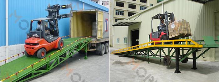 mobile loading dock ramp