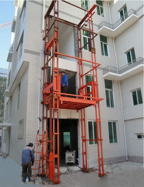 goods lift installation