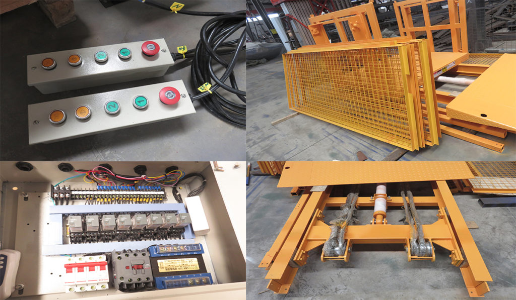 components of goods lift