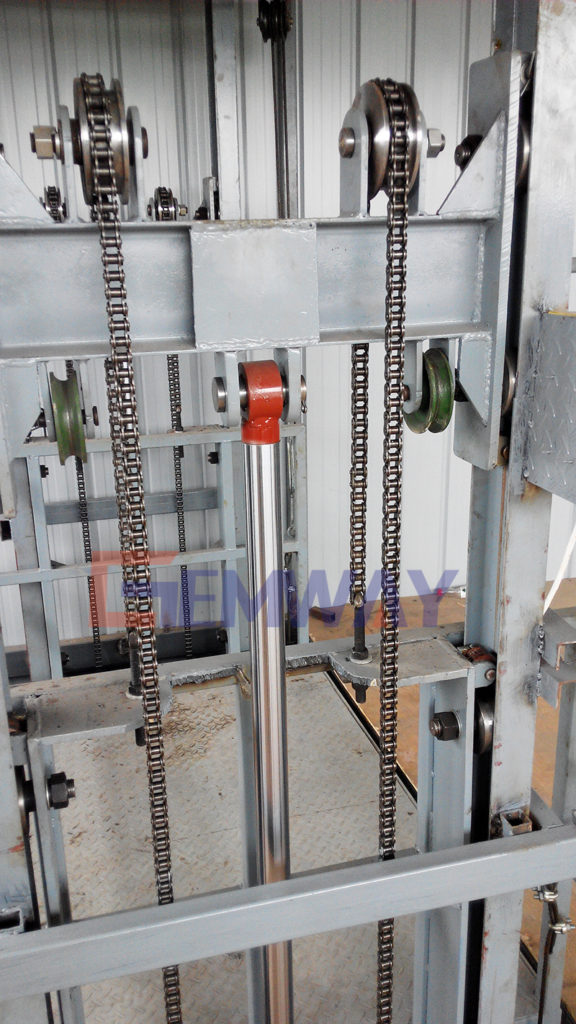 hydraulic system of goods lift