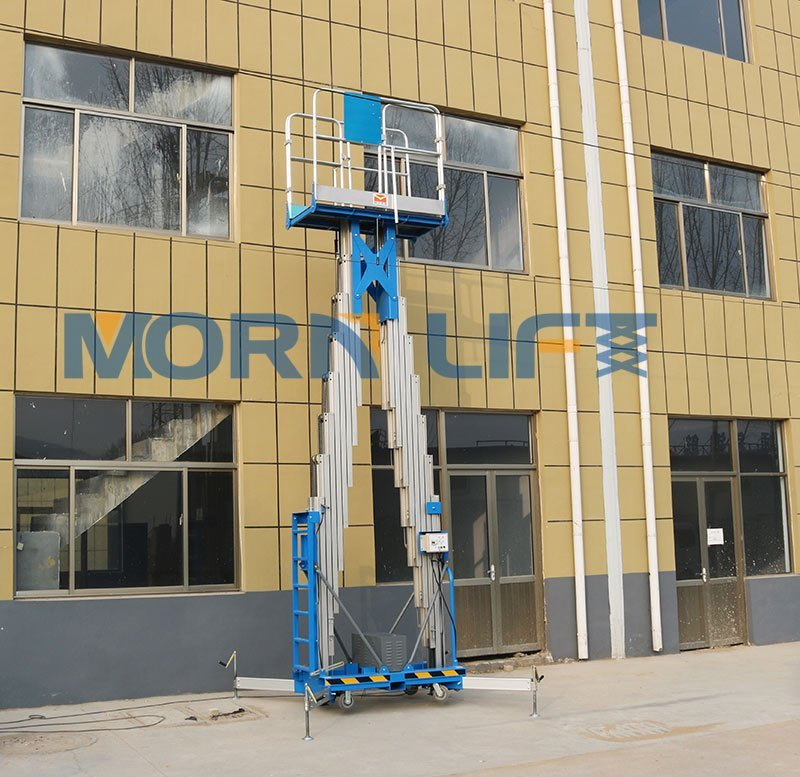 aluminum mast lift working for external wall