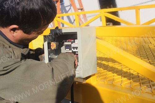 mobile loading ramp control box