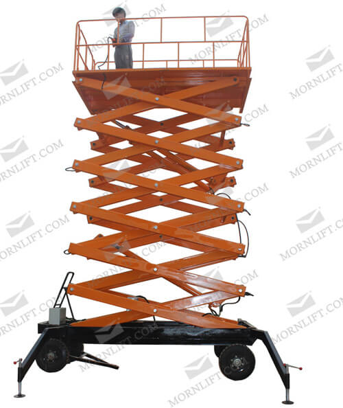 mobile scissor lift 14m