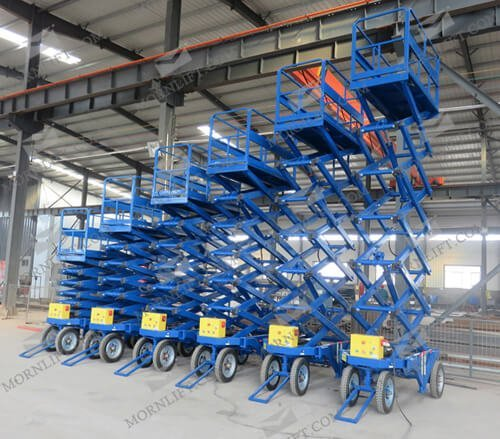 mobile scissor lift different height