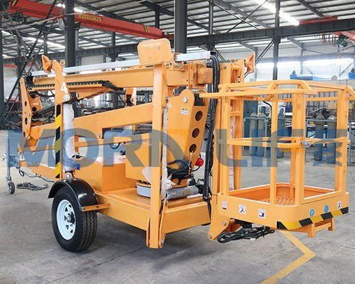 What advantages do trailer boom lifts have?