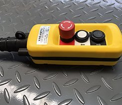 scissor lift control button