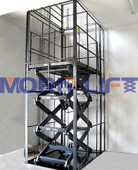 scissor goods lift application