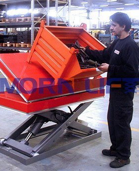 tile platfomr lift table application
