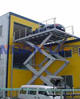 scissor car lift application