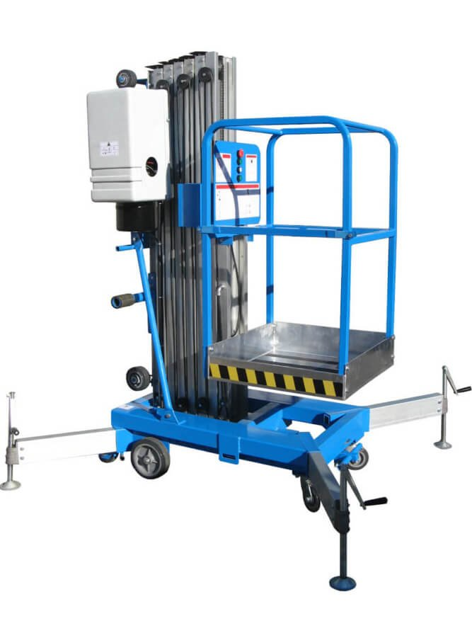 What is the feature of aluminum aerial work platforms