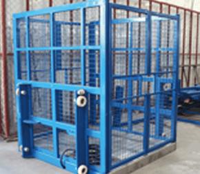 cargo lift steel mesh cabin