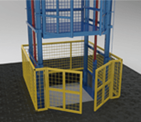 cargo lift landing safety fence