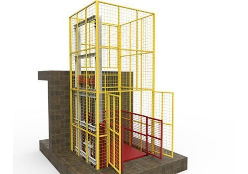 cargo lift with full mesh