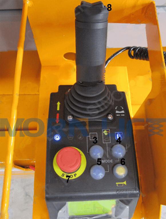 self-propelled scissor lift control panel