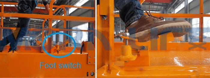 self-propelled scissor lift foot switch