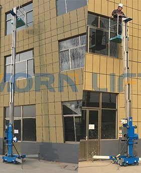 virtcal mast lift application