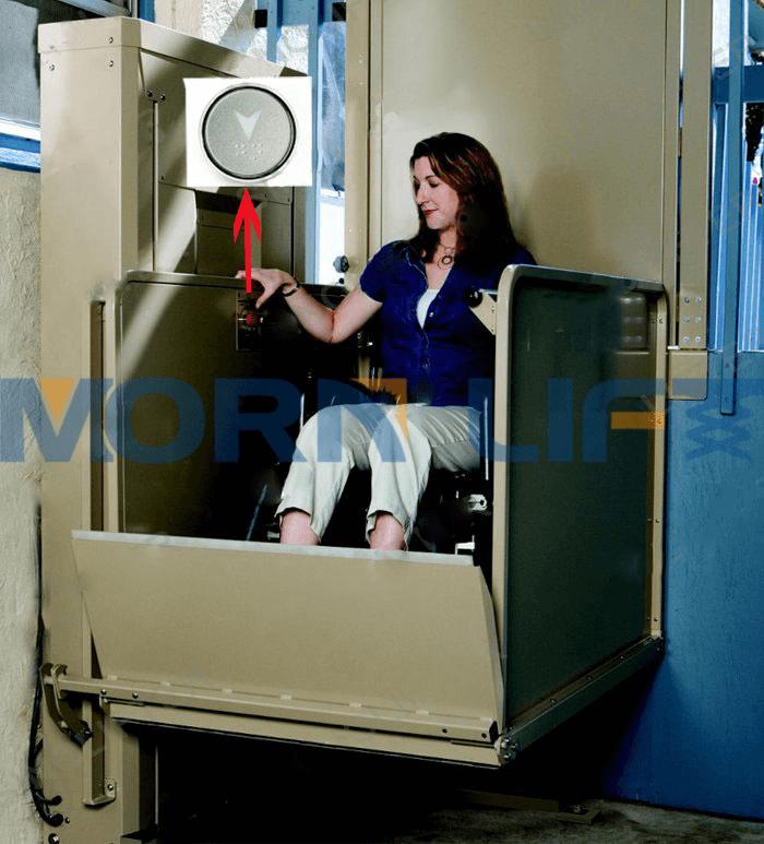 wheelchair lift in hosptial