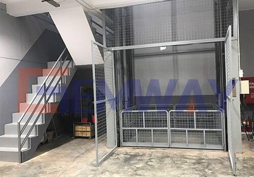 full caged cargo lift