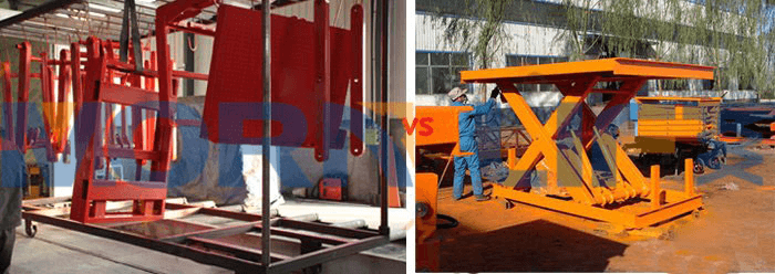 scissor lift get painting