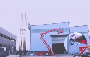 MORN LIFT Towable Boom Lift with Rotating Platform Speeds Up Your Aerial Work 4