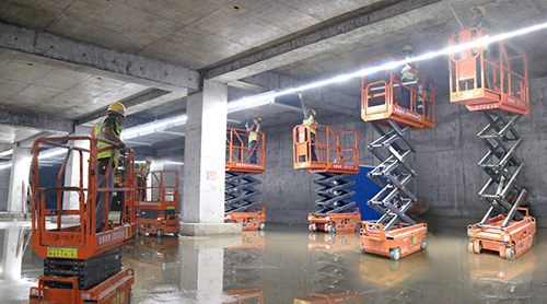 MORN LIFT Small scissor lifts: your ace for indoor construction operations
