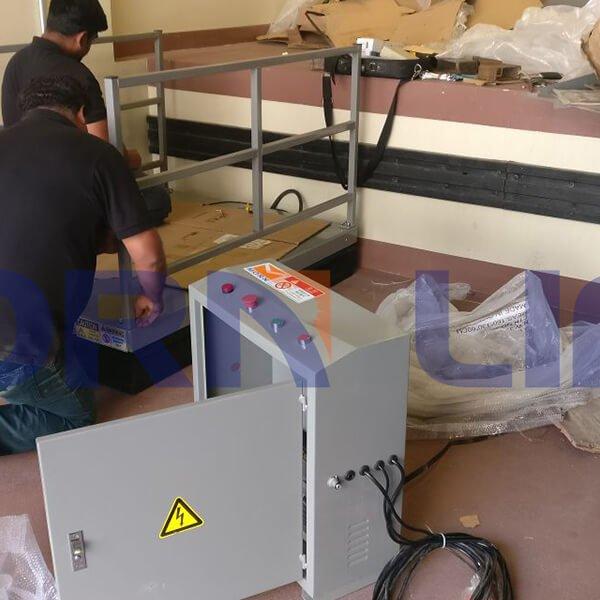 Customized hydraulic scissor lift installed in dubai