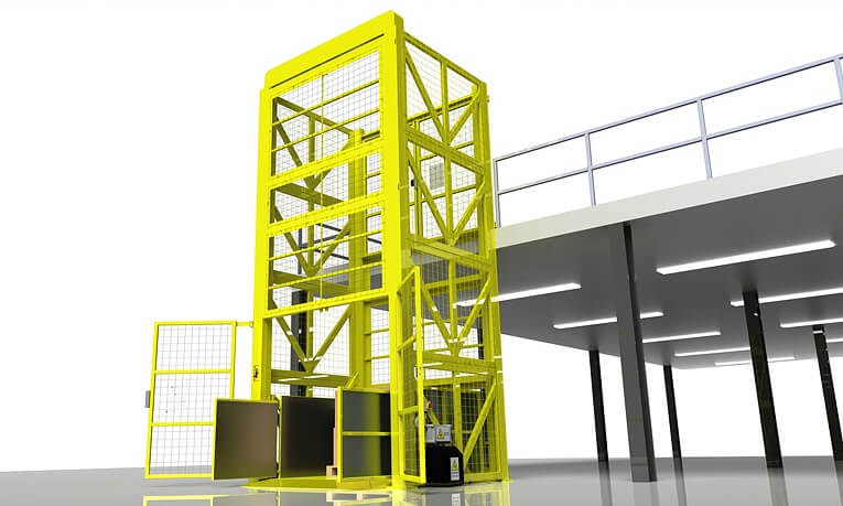Differenct warehouse lift with hydraulic device
