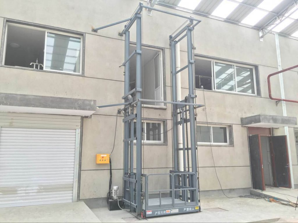 cargo lift brings convenience to production