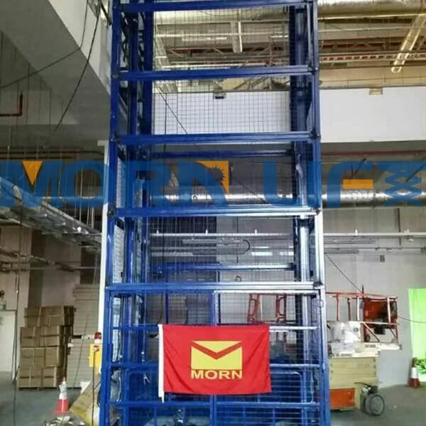 cargo lift with full mesh in singapore