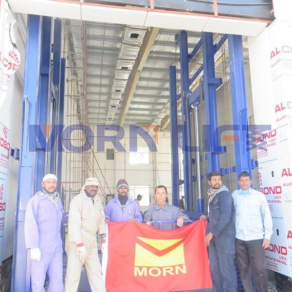 freight elevator installation in Saudi Arabia