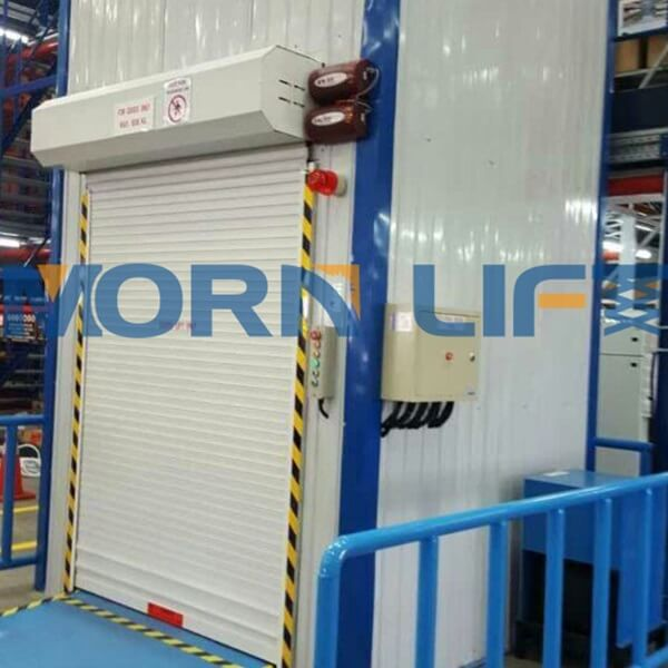 freight elevator with color steel tile encloseure