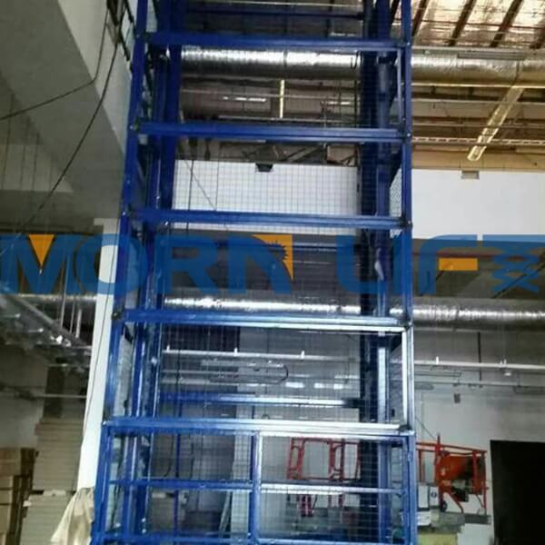 freight elevator with full mesh