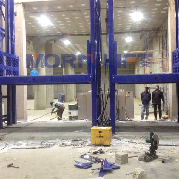 goods elevator installation in kuwait