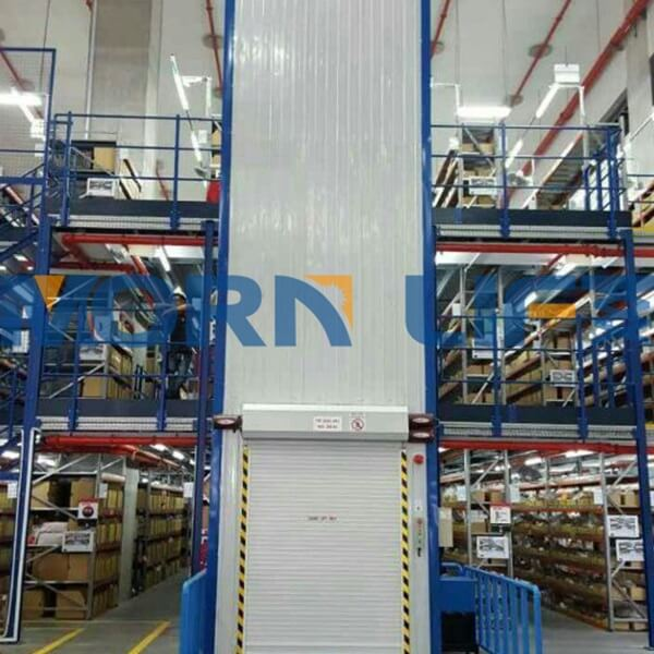 goods lift with color steel tile encloseure