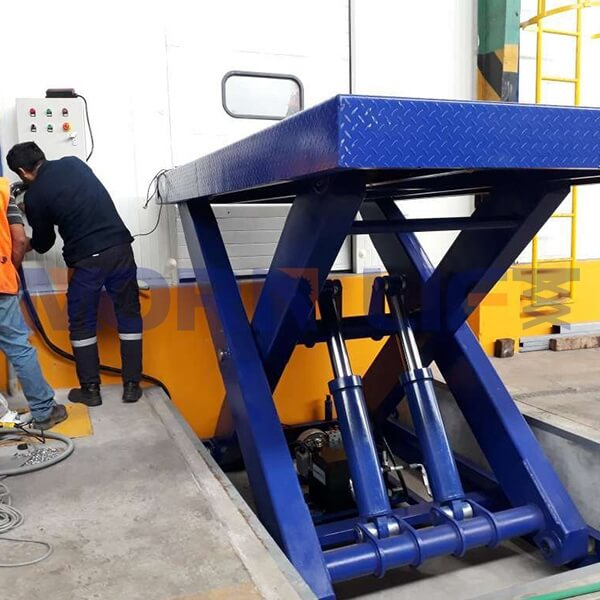 hydraulic scissor lift install in peru