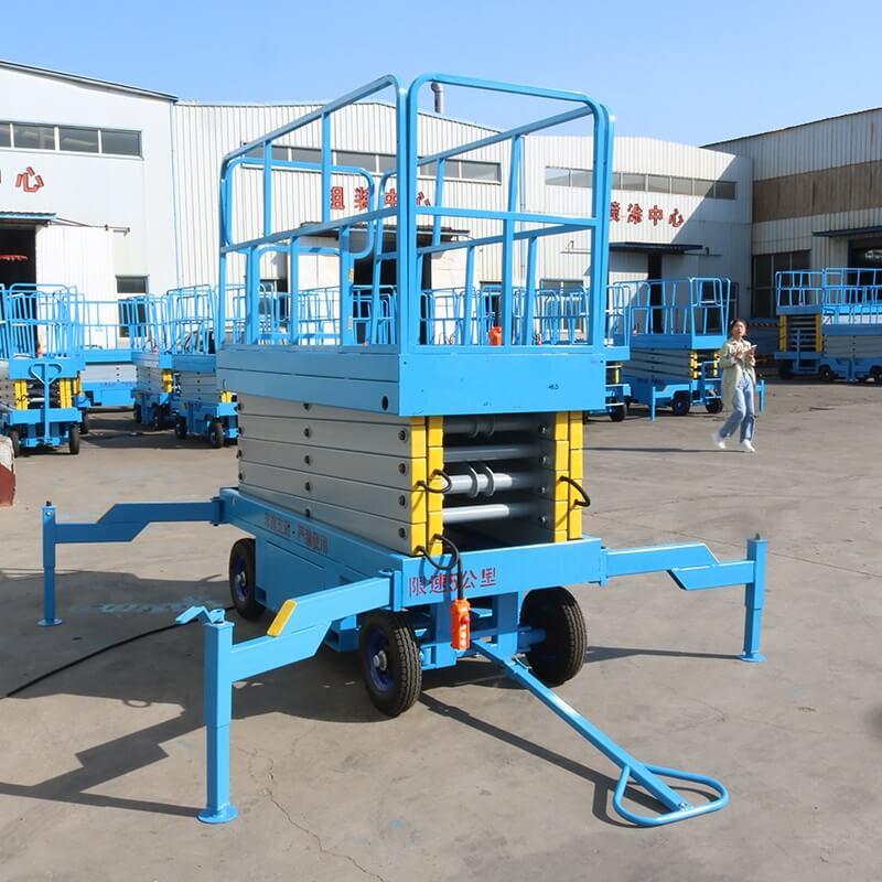 mobile scissor lift in factory
