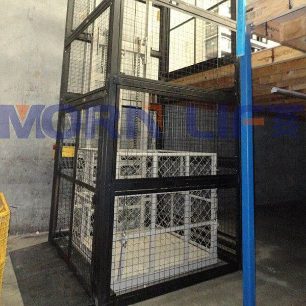 two post cargo lift with full mesh