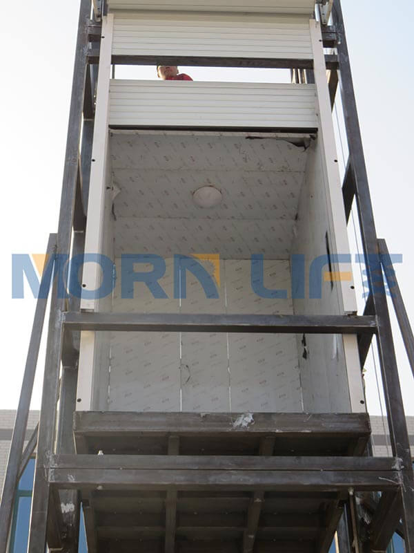 cargo lift installation