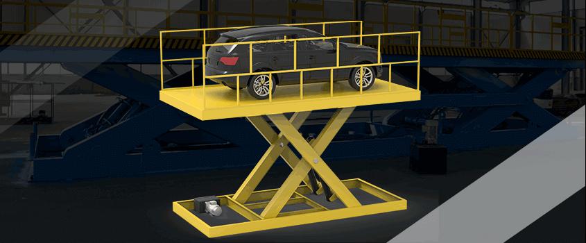 scissor car lift safety feature