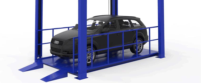 4 post car lifts application scenario
