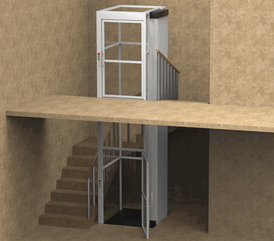 Vertical Platform Lift with Enclosure