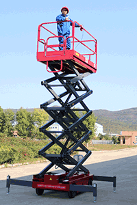 man lift scissor lift
