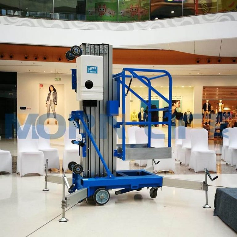 Vertical mast aluminum alloy lift