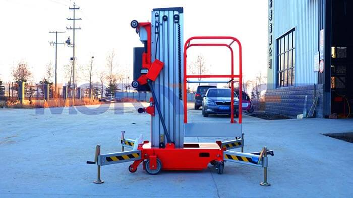 Description of the six advantages of vertical mast lift