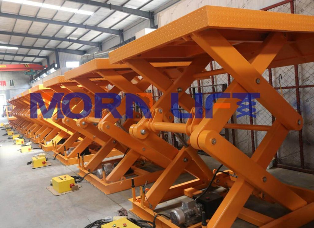 scissor lift in factory