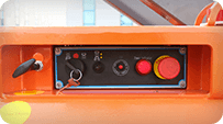 electric scissor lift Control panel On the chassis