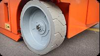 electric scissor lift Wheels