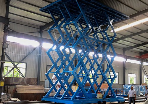 scissor goods lift customized