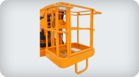 towable boom lift working cage
