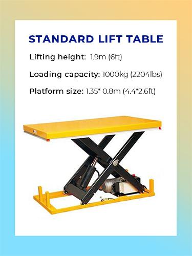Standard Lift Table 1